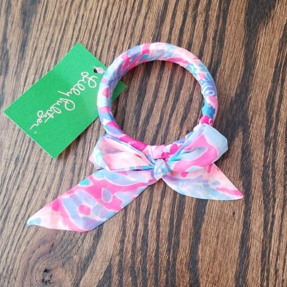 Lilly Pulitzer Jewelry - NWT Lilly Pulitzer GWP fabric wrapped bangle